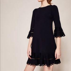 Brand New Ted Baker knitted frill detail dress, 0